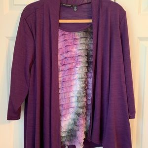 Notations sweater top purple